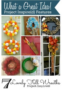 Seven Lovely Fall Wreaths featured on Project Inspire{d} at AnExtraordinaryDay.net