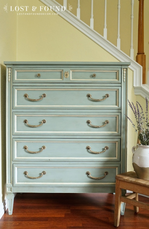 Lost and Found Decor Chalk paint Makeover featured at AnExtraordinaryDay.net