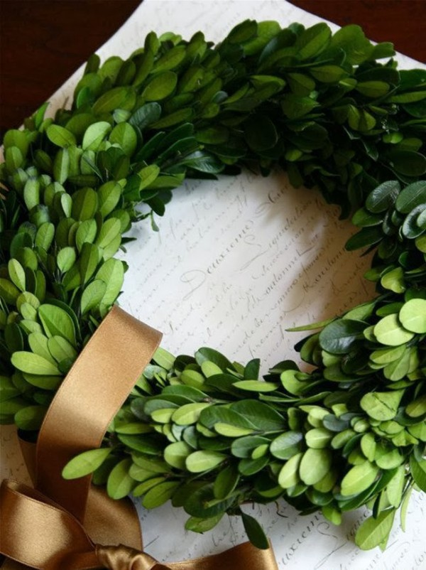 Boxwood wreath from Simply Suzannes