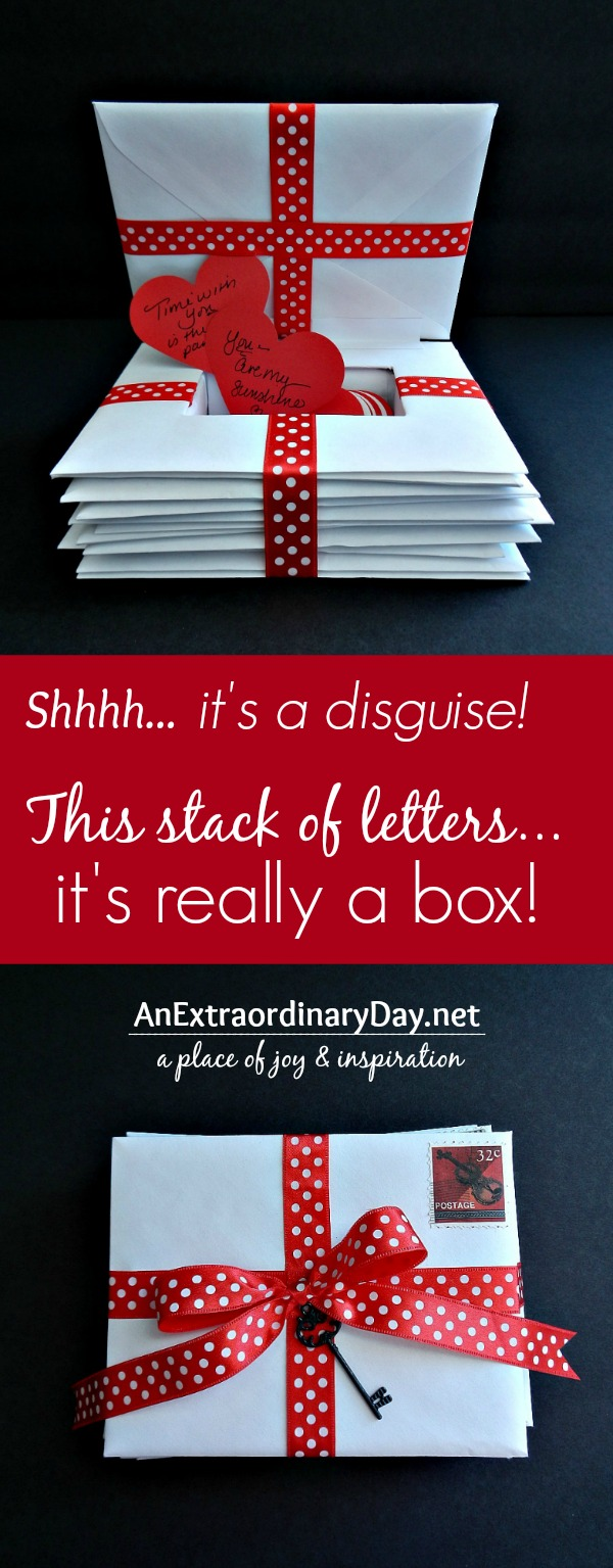 A box disguised as a stack of letters is a Top 10 Posts for 2014 at AnExtraordinaryDay.net