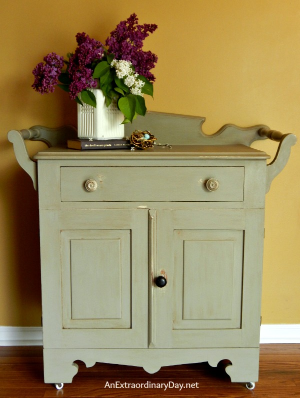 Antique Washstand Chalk Paint Makeover is a Top 10 Posts for 2014 at AnExtraordinaryDay.net