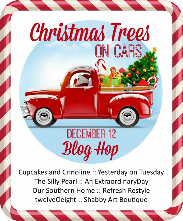its time to check out the christmas tree on cars my blogging friends put together
