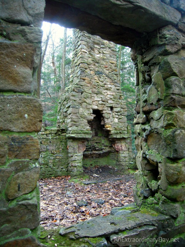 "Ruins of a fireplace and house and thoughts about cleaning ""house"" for Christmas."