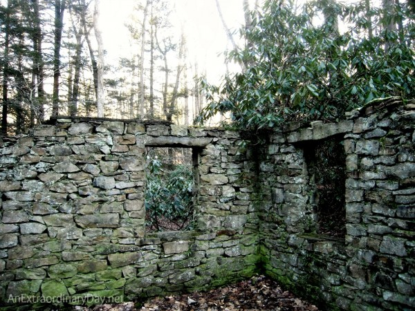 "Ruins of a stone house and thoughts on cleaning ""house"" for Christmas."