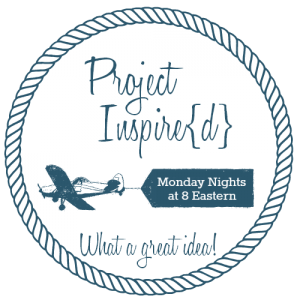 Project Inspire{d} Link Party :: Join us each week to view and share fabulous home decor projects, DIY's, crafts, recipes, and more! Our party starts at 8:00 EST on Monday nights... you're never too late to join in the fun! See you there!