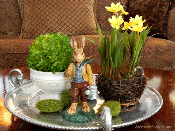 10 minute Easter vignette in just a few easy steps.