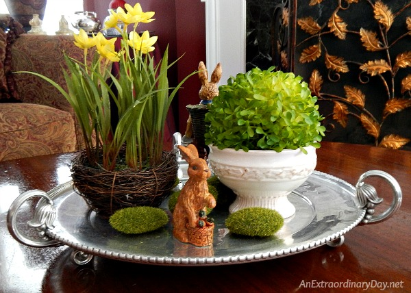 Instant home decor - 10 Minute Easter Vignette - AnExtraordinaryDay.net