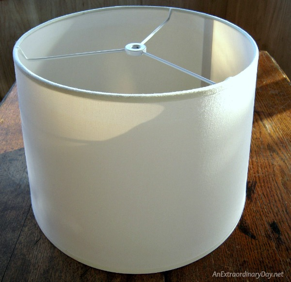 How to Give a Lampshade a Quick and Easy Makeover with this tutorial.