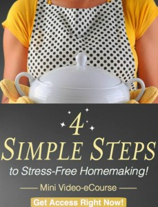 Get access now to 4 Simple Steps to Stress Free Homemaking
