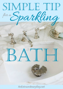 Super Simple Tip for a Sparkling Bath… Everyday