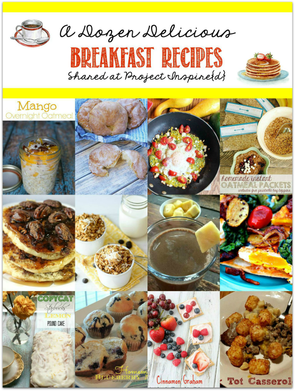 Stuck in a breakfast rut?  Having guests for the weekend? Wondering what to serve for that next holiday brunch you're hosting?  Check out these 12 Delicious Breakfast Recipes to Make this Weekend.  YUM!!