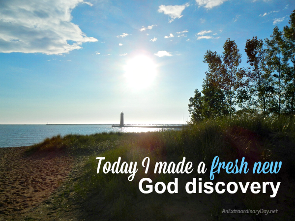 Discovering God and Grace and a fresh new discovery