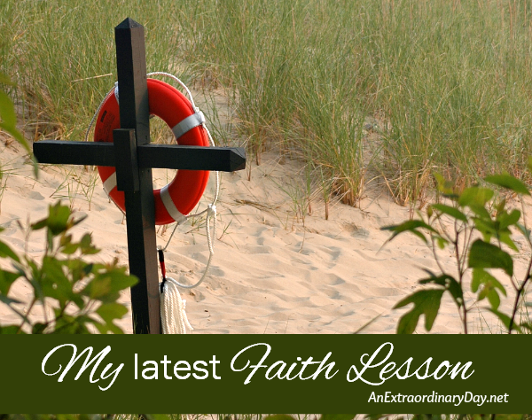 My latest faith lesson--God delights in serving me,