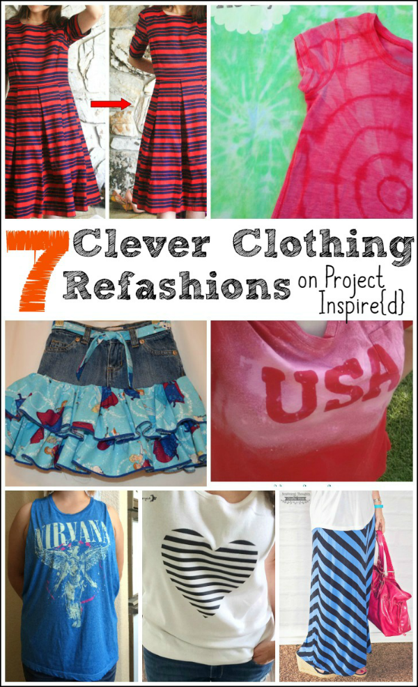 Seven Clever Clothing Refashions on Project  Inspire{d}