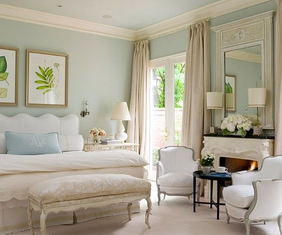 Elegant bedroom with fireplace and the answer to... Why does my favorite color stress me out?