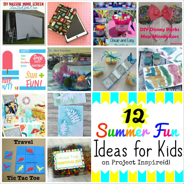 12 Summer Fun Ideas For Kids on Project Inspire{d} - AnExtraordinaryDay.net