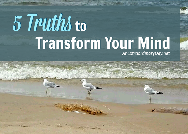 We know our minds are powerful, but have you ever considered how much your thoughts control your life? Join me as I share 5 truths to transform your mind and ultimately your relationships and your world. This is life-changing.