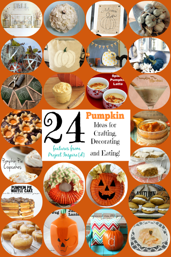 Pumpkins ~ who doesn't love those cute, colorful balls with stems? Whether you're looking for crafty ideas or recipes, we've got 24 pumpkin crafts and eats for you to have fun making and tasting. Which one will you try first?