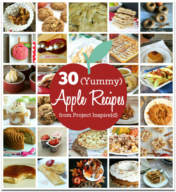 30 Yummy Apple Recipes from Project Inspire{d} at AnExtraordinaryDay.net