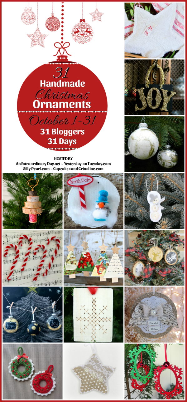 31 Handmade Christmas Ornaments - The first 15 Days -