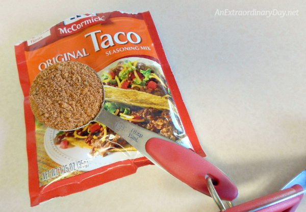 Easy Southwest Chicken Supper Ingredients - Taco Seasoning #Shop