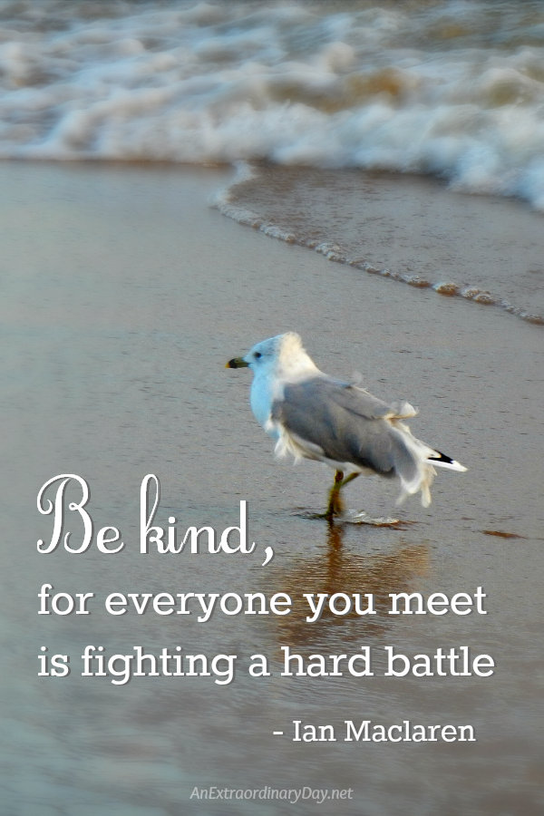 Everyone you meet is fighting a hard battle - AnExtraordinaryDay.net