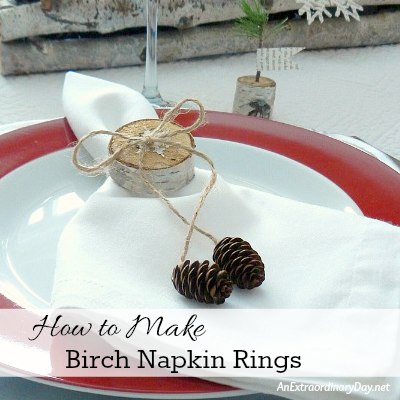 How to Make Birch Napkin Rings - AnExtraordinaryDay.net_