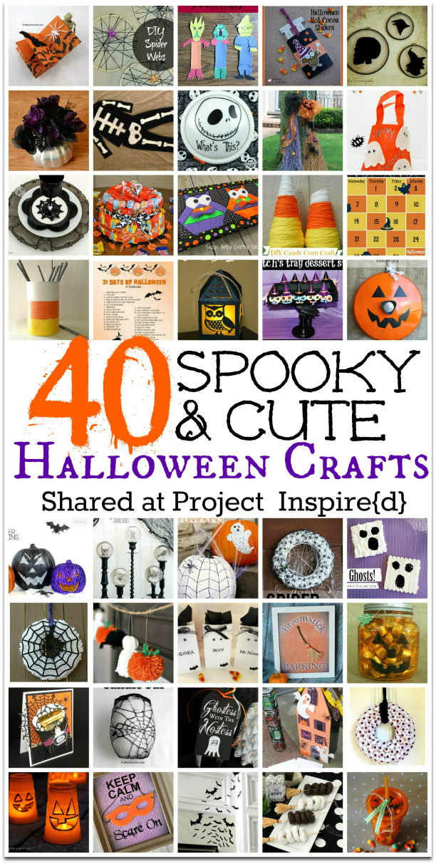 40 Spooky and Cute Halloween Crafts from Project Inspired featured at AnExtraordinaryDay.net