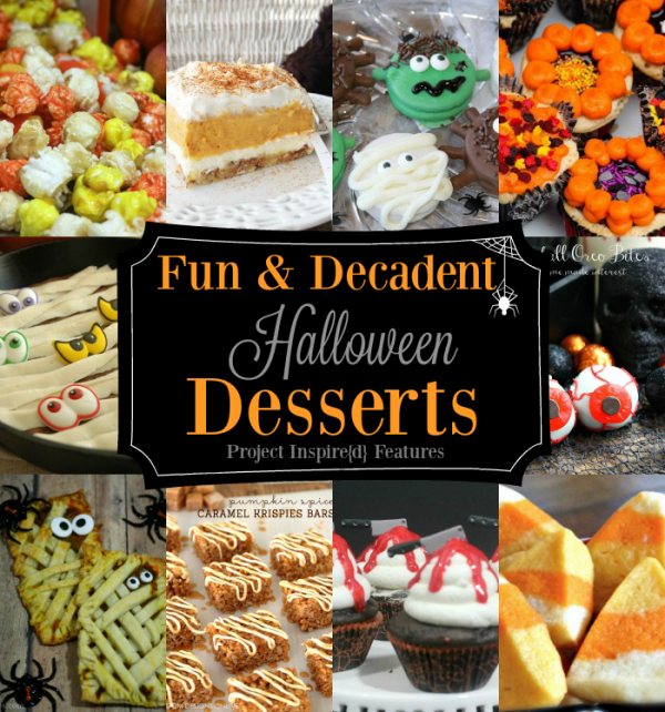 Fun and Decadent Halloween Desserts Project Inspire{d} features at AnExtraordinaryDay.net