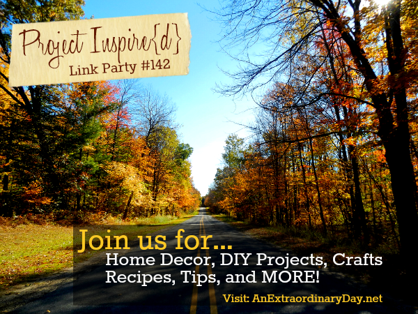 Project Inspire{d} is the most amazing link party. Each week hundreds of bloggers bring their best to the party and we all are blessing with their extraordinary inspiration. If you're looking for Thanksgiving ideas or have some to share.... join us between 8 PM Eastern on Monday and 8 AM Eastern on Thursday! Can't wait to see you there!