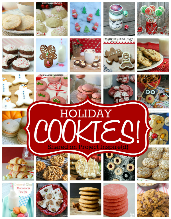 You're going to love having 25 festive holiday cookie recipes at your fingertips.  Whether you've got a cookie exchange looming, or you just love blessing your friends and neighbors with tins of goodness, you are in for a treat!