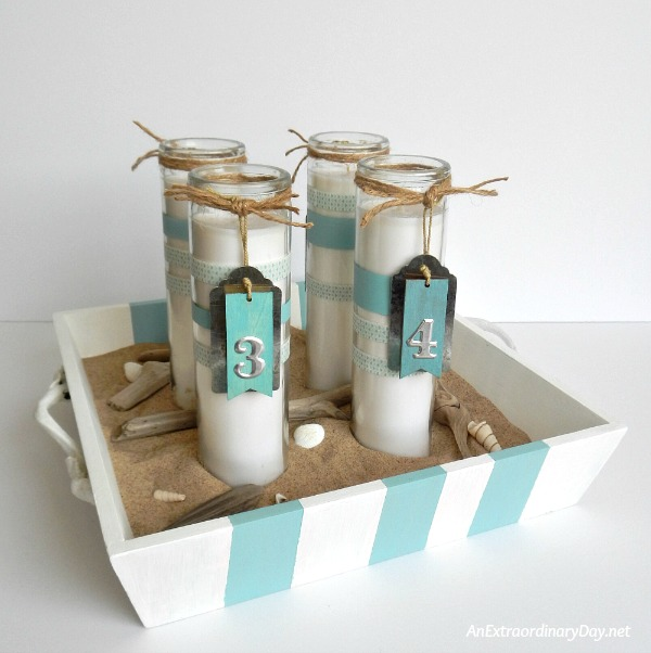 How to Make Coastal Advent Candles -- AnExtraordinaryDay.net