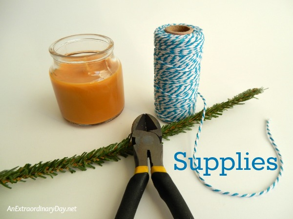 Supplies to create a miniature wreath - AnExtraordinaryDay.net