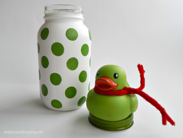 Whimsical Mason Jar Christmas Gift for Baby Girl - Duck & Jar - AnExtraordinaryDay.net