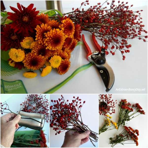Wishing for Comforts from Home at the Holidays ~ Flower Arranging Tutorial