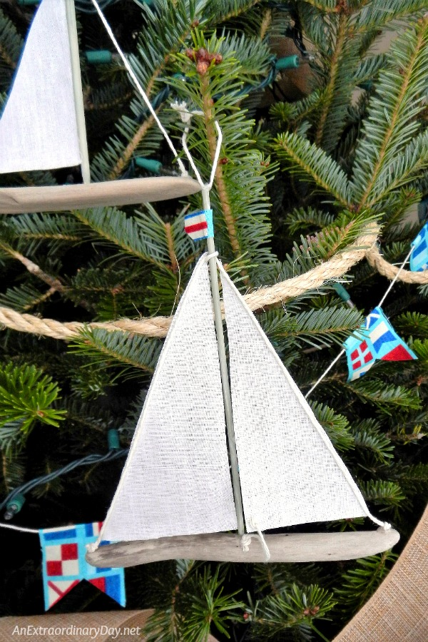 Making Driftwood Sailboats are Unique Ways to Decorate a Nautical Christmas Tree