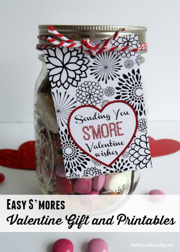 S'more Valentine Wishes Gift Tag - Free Printable Ideas