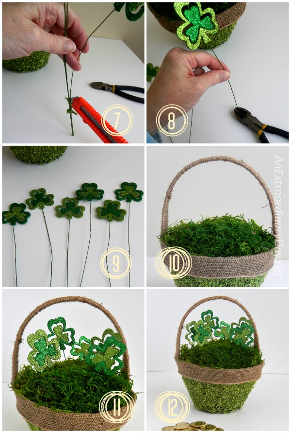 Part 2 Tutorial for a Mossy St. Patrick's Day Basket