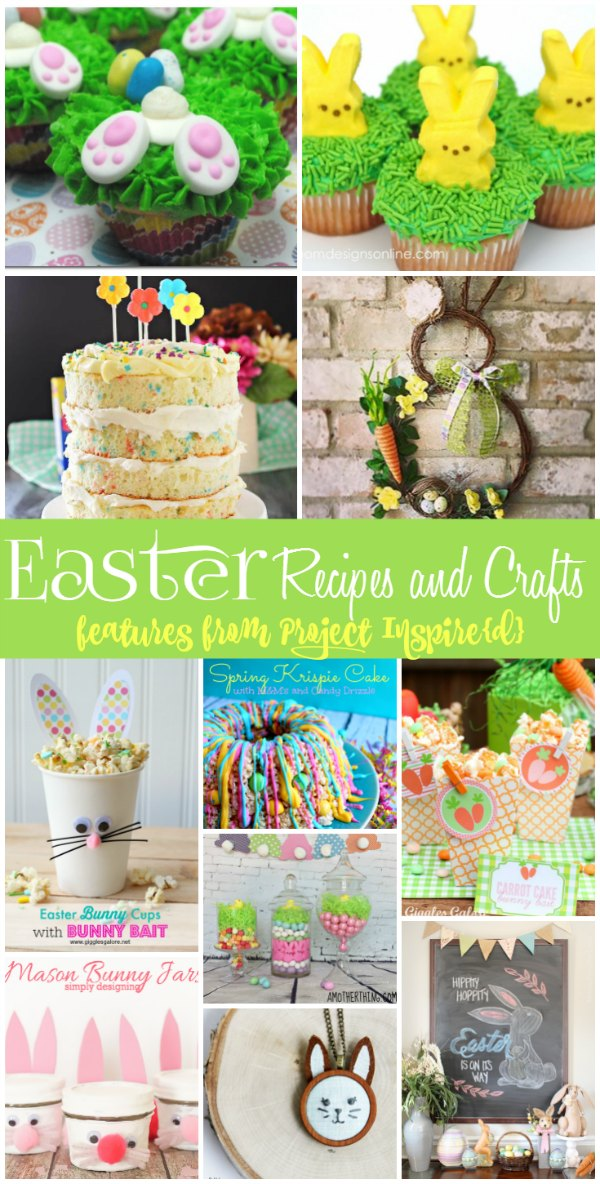 Make your holiday extra special this year with these yummy recipes and cute crafts for Easter from Project Inspire{d}! We've got a bunny-inspired theme going that you're sure to love. Pin it now for later.