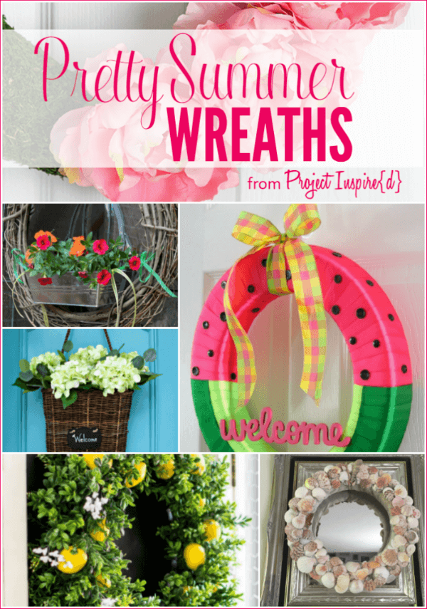 9 Pretty Summer Wreaths to Make Your Door Beautiful - Project Inspire{d} features at AnExtraordinaryDay.net