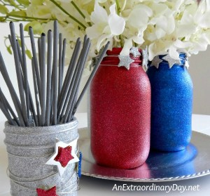 How to Make Your Fourth of July Sparkle with Mason Jars and Flowers