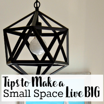 Tips to Make a Small Space Live BIG at AnExtraordinaryDay.net