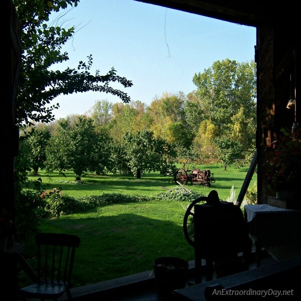 Looking out the barn doors on beautiful Hurd Orchards - AnExtraordinaryDay.net