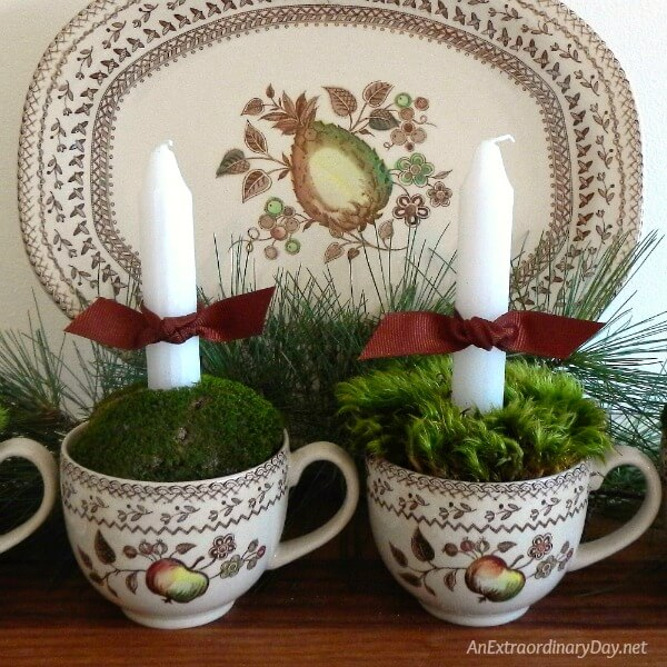 Easy to Make Advent Candle Faux Wreath to Celebrate Christmas and Make it Peaceful and Purposeful - AnExtraordinaryDay.net