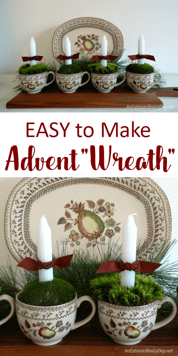 Want a peaceful Christmas?  Check out these TIPS and TUTORIALS for an EASY to Make Advent Wreath here...