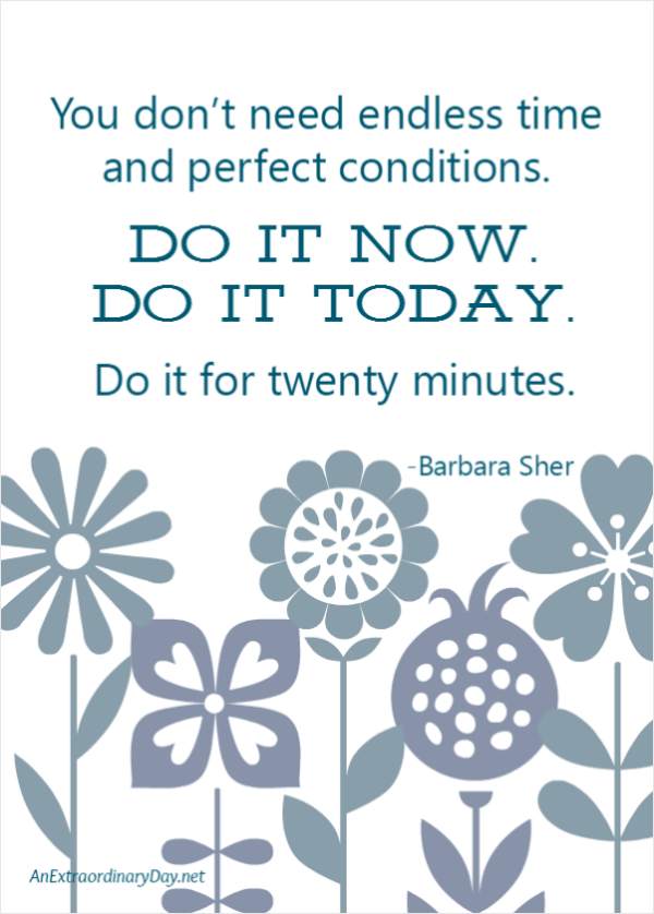 Do it NOW. Do it TODAY. Download this FREE Printable Art Quote