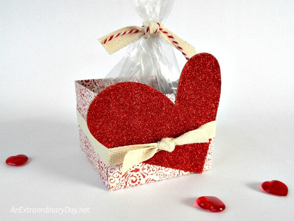 Gift packaging idea for a Valentine's Day food gift