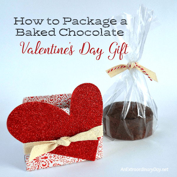 How to package a baked chocolate Valentine's Day Gift