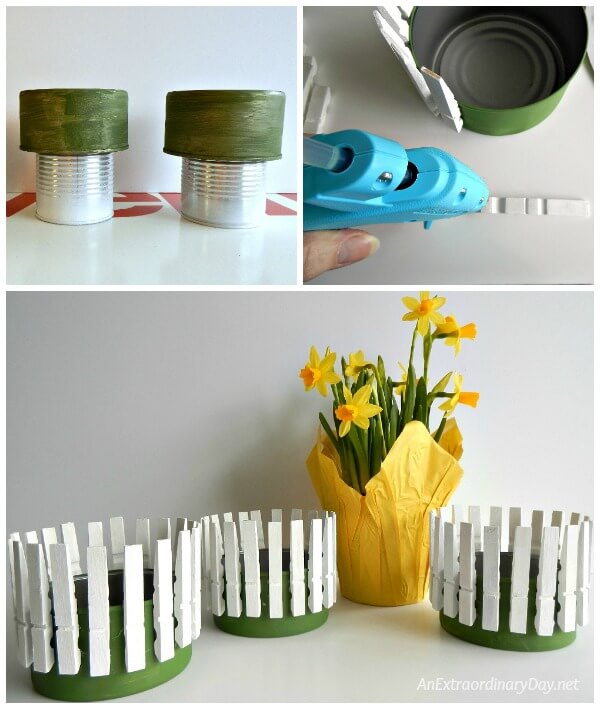 Tutorial - create a picket fence container from a tuna can