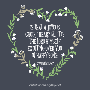 Listen!  God is Singing Joyfully Over You ~ Art Printable | JoyDay!